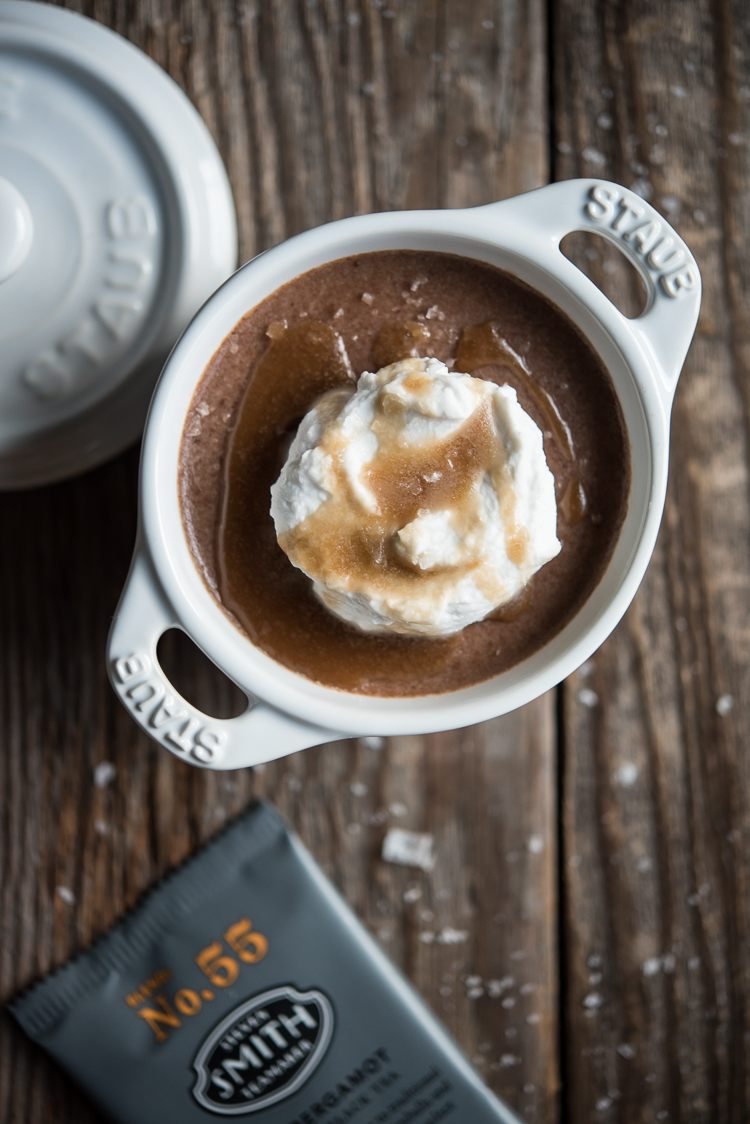 vegan earl grey chocolate pots de creme