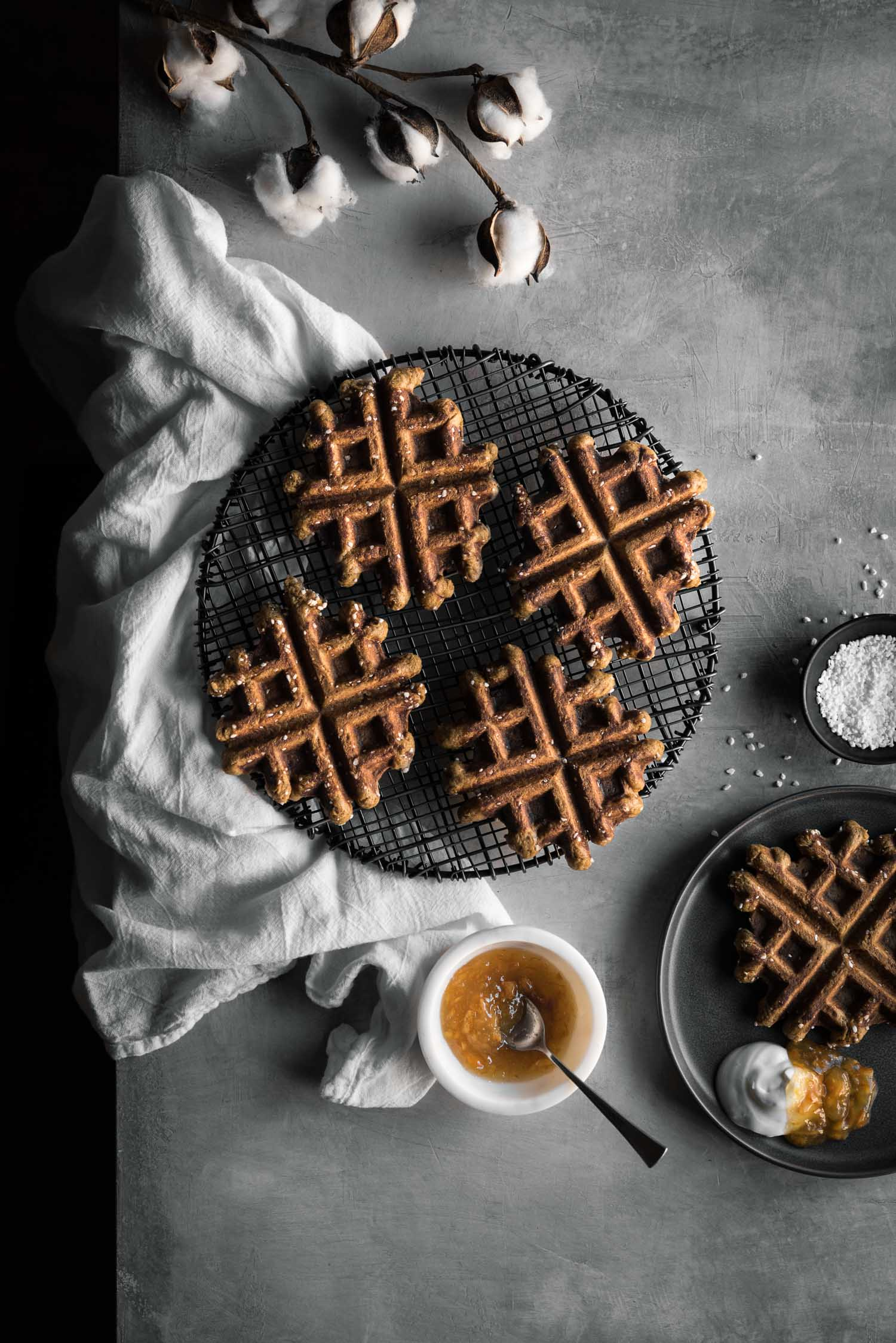 gingerbread belgian liege waffles