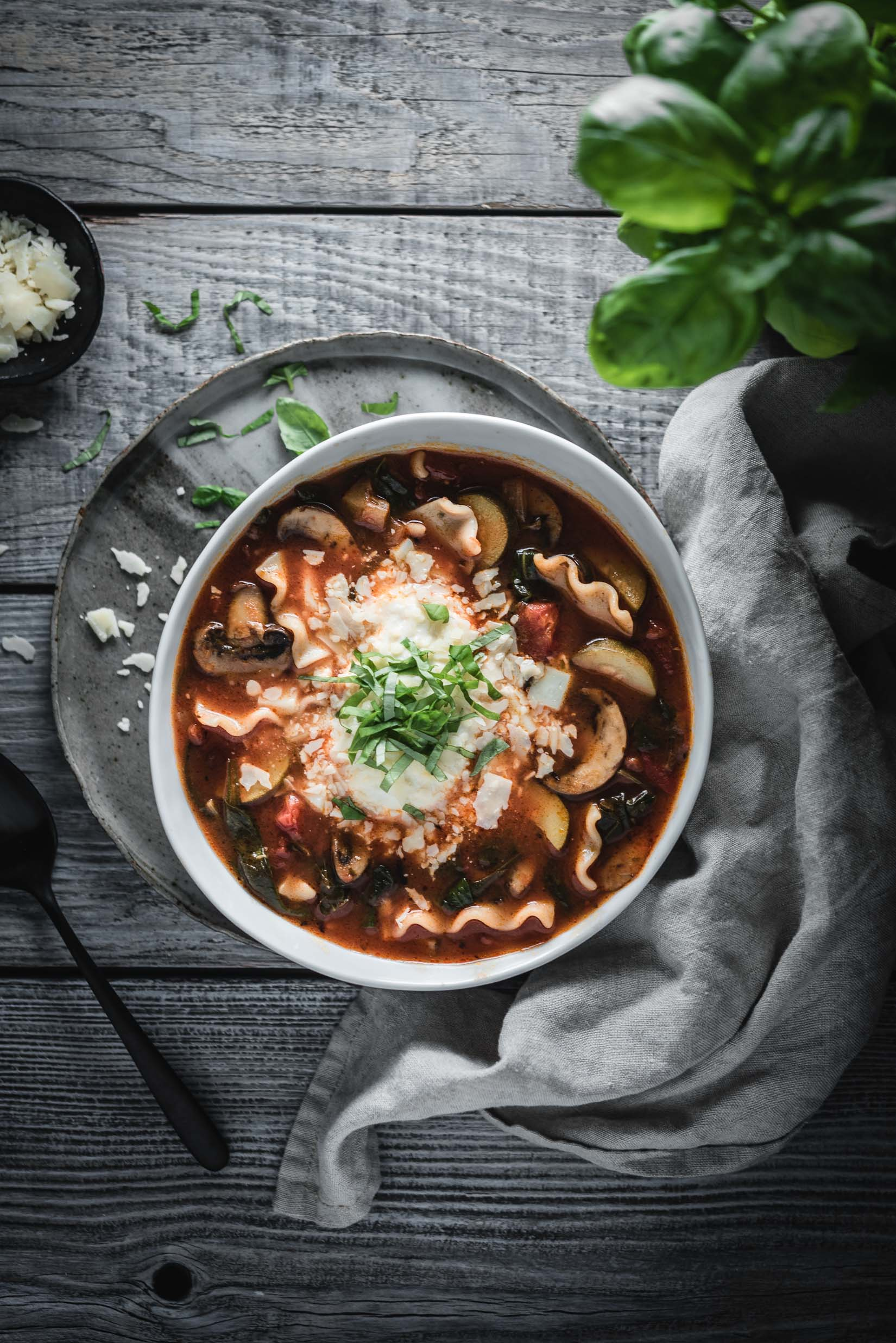vegetable lasagna soup
