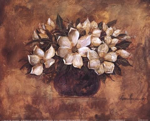 Antique Magnolia II Fine Art Print By Ruane Manning At