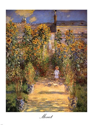 The Artists Garden at Vetheuil with Boy c1880 Fine Art