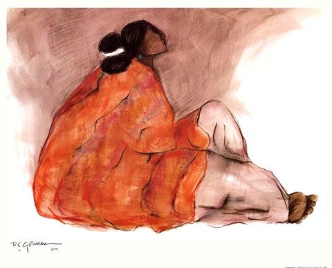 Seated Woman Fine Art Print by RC Gorman at FulcrumGallerycom