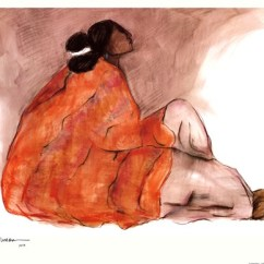 Living Rooms Indian Style Hgtv Room Color Ideas Seated Woman Fine Art Print By R.c. Gorman At ...