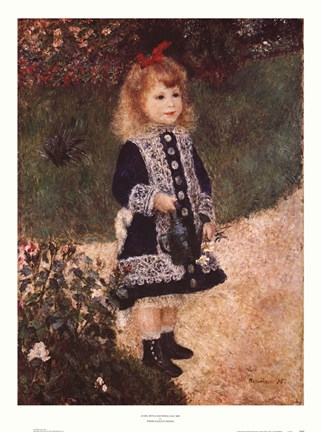 Girl with a Watering Can Fine Art Print by PierreAuguste