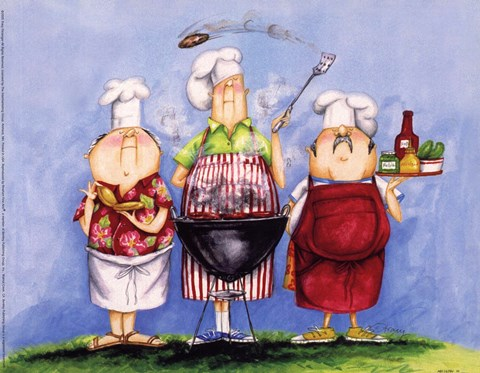 BBQ Chefs I Fine Art Print by Tracy Flickinger at