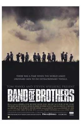 Band of Brothers Silhouette Wall Poster by Unknown at