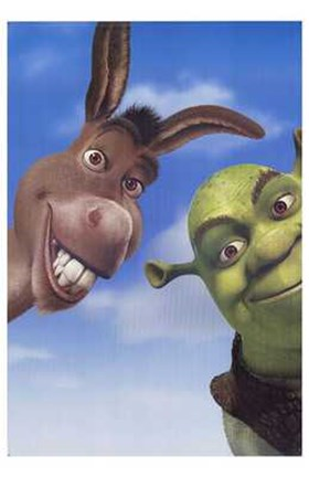 Shrek 2 Donkey And Shrek Wall Poster By Unknown At