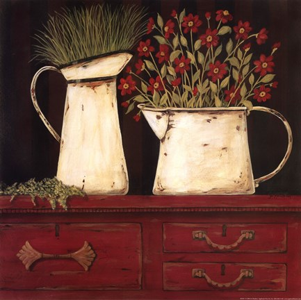 Red Cupboard Fine Art Print By Jo Moulton At
