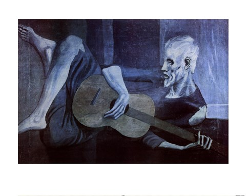 Old Guitarist Fine Art Print by Pablo Picasso at