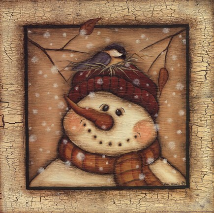 Snowman II Fine Art Print by Kim Lewis at FulcrumGallerycom