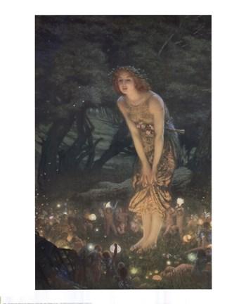 Midsummer Eve. c.1908 Fine Art Print by Edward Robert Hughes at FulcrumGallery.com