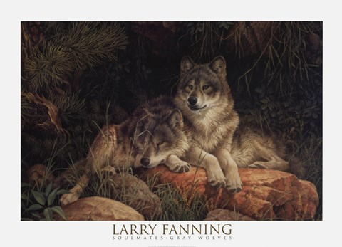 mirrors living room decorating ideas for red couch soulmates (detail) fine art print by larry fanning at ...