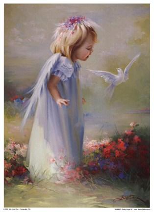 Baby Angel IVMini Fine Art Print by Joyce Birkenstock at