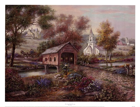 Razzberry Creek Crossing Fine Art Print by Carl Valente at FulcrumGallerycom
