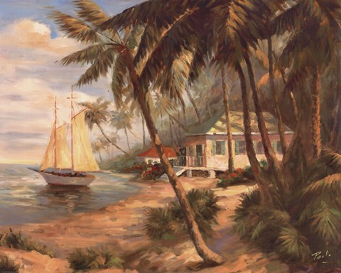Key West Hideaway Fine Art Print by Enrique Bolo at