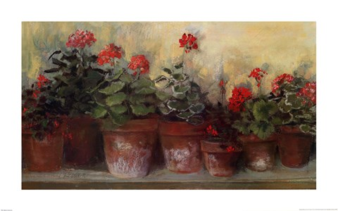 Kathleens Geraniums Fine Art Print by Carol Rowan at FulcrumGallerycom