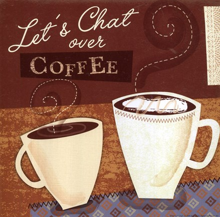 Lets Chat Fine Art Print by Jessica Flick at