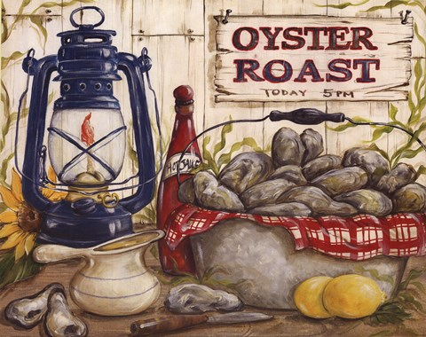 pig kitchen nice tables oyster roast fine art print by kate mcrostie at ...