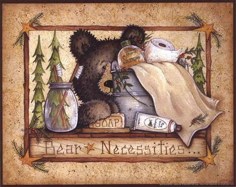 Bear Necessities Fine Art Print by Mary Ann June at FulcrumGallerycom