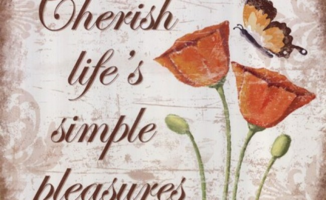 Cherish Life S Simple Pleasures Fine Art Print By Kathy Middlebrook At Fulcrumgallery