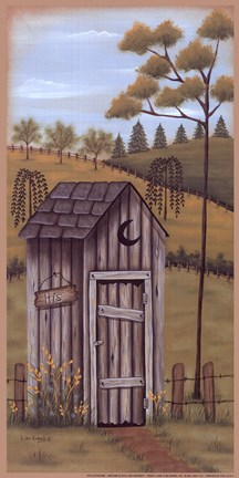 His Outhouse Fine Art Print by Lisa Kennedy at