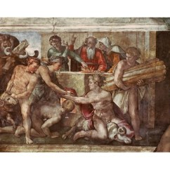 Big Living Room Mirrors Looking For Furniture Sistine Chapel Ceiling: Noah After The Flood Fine Art ...