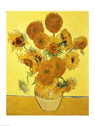 Wallpaper For Baby Girl Room Sunflowers 1888 Yellow Fine Art Print By Vincent Van Gogh