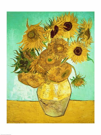 Sunflowers 1888 Fine Art Print by Vincent Van Gogh at FulcrumGallerycom