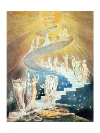 Jacobs Ladder Fine Art Print by William Blake at FulcrumGallerycom