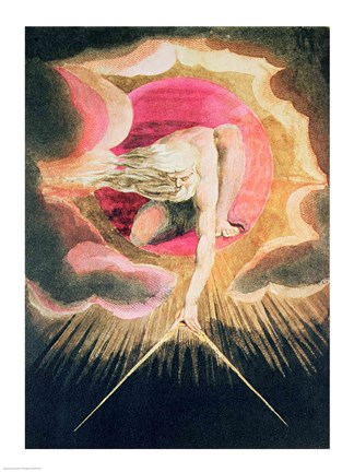 God Creating the Universe Fine Art Print by William Blake