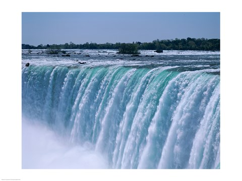 Closeup of a waterfall Niagara Falls Ontario Canada