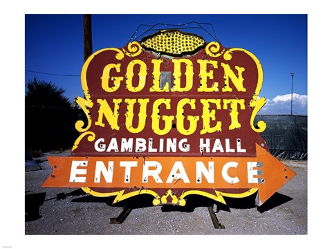 kitchen art prints cutting gloves for golden nugget historic casino sign in the neon boneyard ...