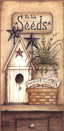 Seeds For Sale Fine Art Print by Mary Ann June at
