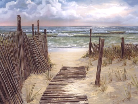 Path To The Ocean Fine Art Print by Georgia Janisse at