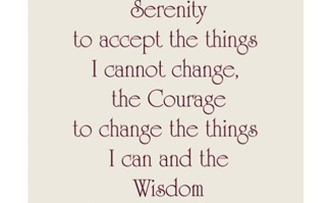 Serenity Prayer Quote Fine Art Print By Unknown At
