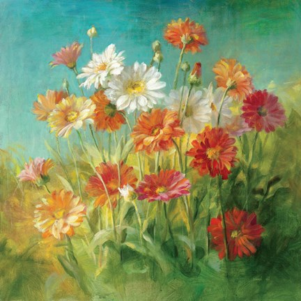 Painted Daisies Fine Art Print by Danhui Nai at