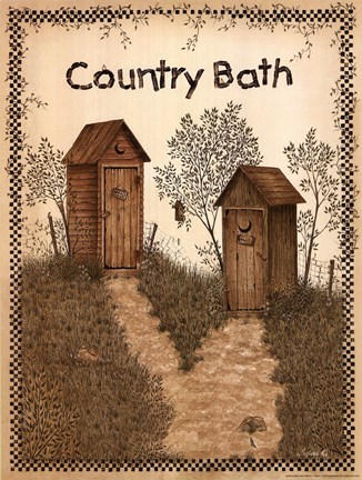 His And Hers Outhouses Fine Art Print By Linda Spivey At