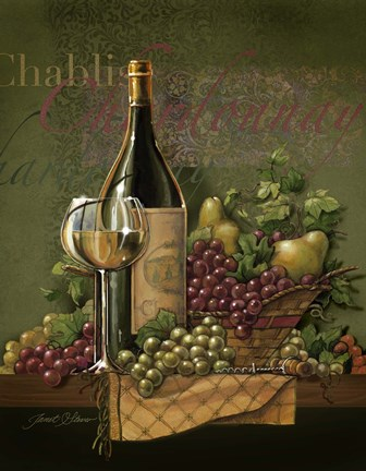 Chardonnay Fine Art Print by Janet Stever at