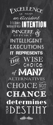 Excellence is Never an Accident Fine Art Print by Veruca Salt at FulcrumGallerycom