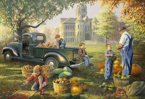 Cute Little Boy And Girl Wallpapers Little Farmers Market Fine Art Print By David Rottinghaus