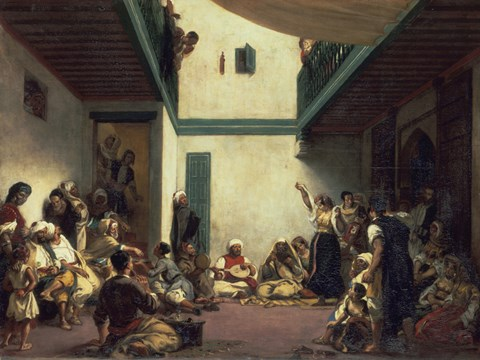 Jewish Wedding In Morocco Fine Art Print By Eugene Delacroix At