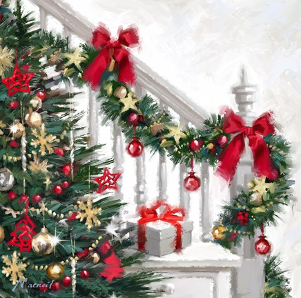 Xmas Staircase Fine Art Print By The Macneil Studio At