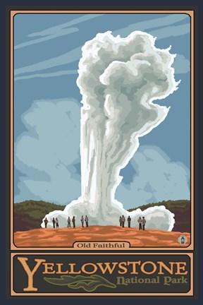 Old Faithful Yellowstone Park Ad Fine Art Print By Lantern