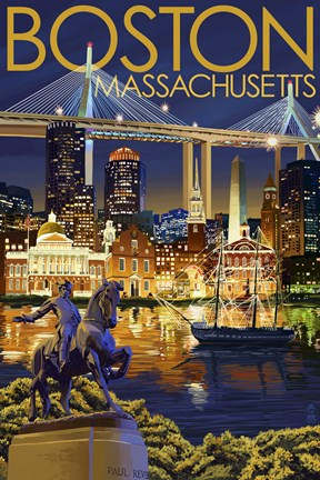 Boston Massachusetts Paul Revere Fine Art Print by Lantern Press at FulcrumGallerycom