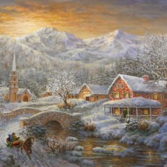 Best Color For Living Room Wallpaper Country Rooms Decorating Winter Merriment Fine Art Print By Nicky Boehme At ...