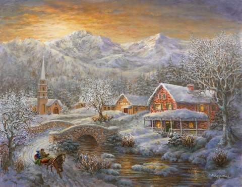 best kitchen mats black cabinets winter merriment fine art print by nicky boehme at ...