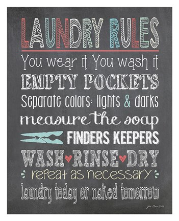 Laundry Rules Fine Art Print by Jo Moulton at FulcrumGallerycom