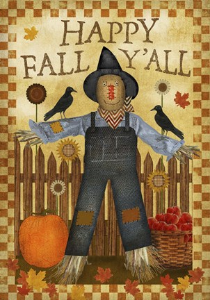 Happy Fall Yall III Fine Art Print by Beth Albert at