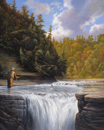 Fishing Fine Art Print by John Zaccheo at FulcrumGallerycom