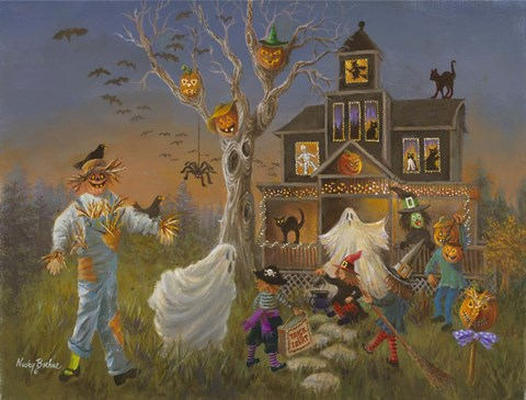 Spooky Halloween Fine Art Print by Nicky Boehme at